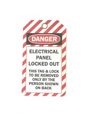 plastic lockout tag